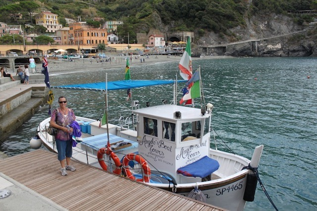 "<p style=""text-align:center;"">Angelo's in Monterosso</p>"